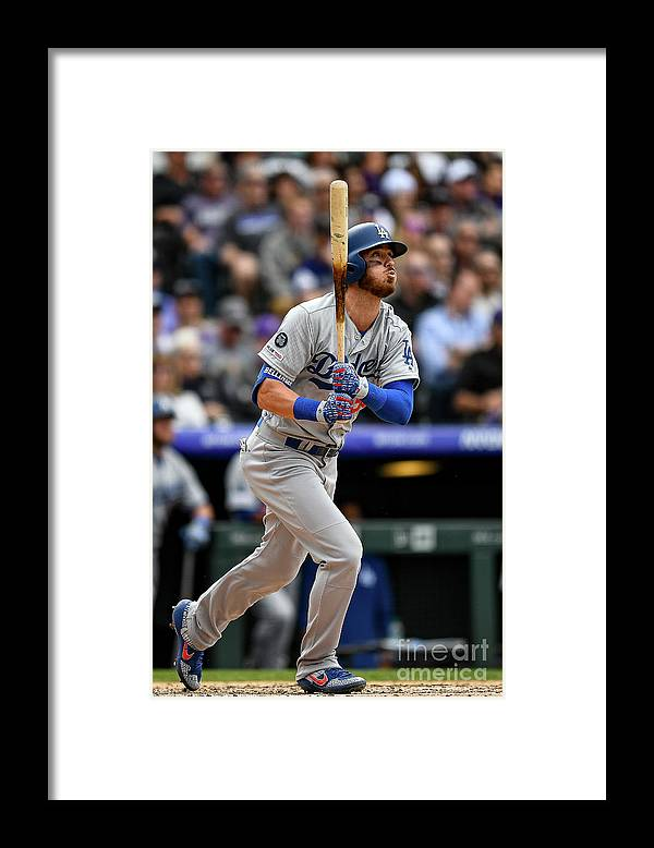 People Framed Print featuring the photograph Cody Bellinger by Dustin Bradford