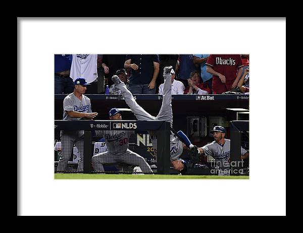 People Framed Print featuring the photograph Cody Bellinger by Norm Hall
