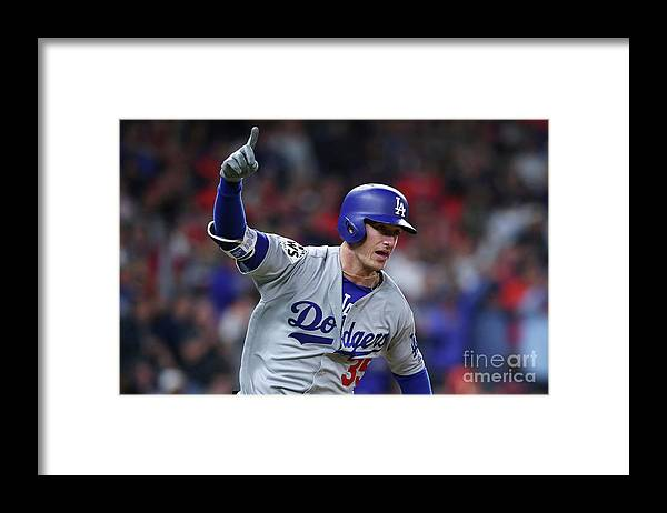 Ninth Inning Framed Print featuring the photograph Cody Bellinger by Tom Pennington