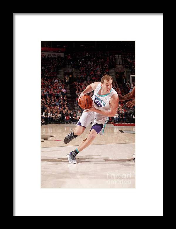 Nba Pro Basketball Framed Print featuring the photograph Cody Zeller by Cameron Browne