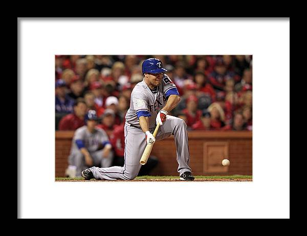 St. Louis Cardinals Framed Print featuring the photograph Colby Lewis by Jamie Squire