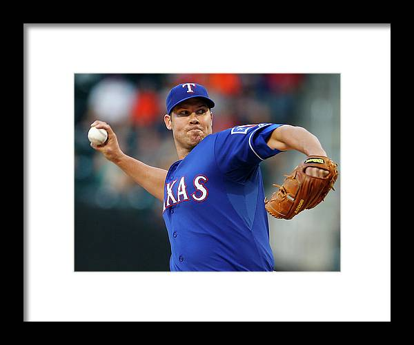 Second Inning Framed Print featuring the photograph Colby Lewis by Rich Schultz
