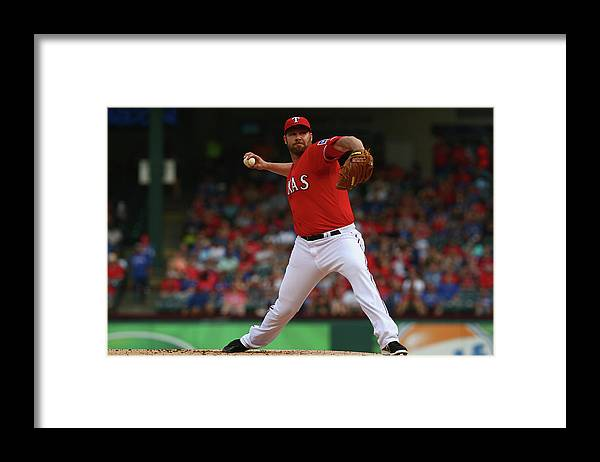People Framed Print featuring the photograph Colby Lewis by Ronald Martinez