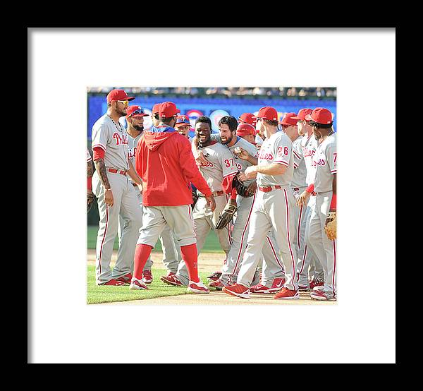 People Framed Print featuring the photograph Cole Hamels by David Banks