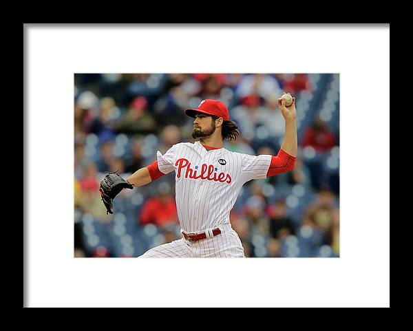 Three Quarter Length Framed Print featuring the photograph Cole Hamels by Hunter Martin