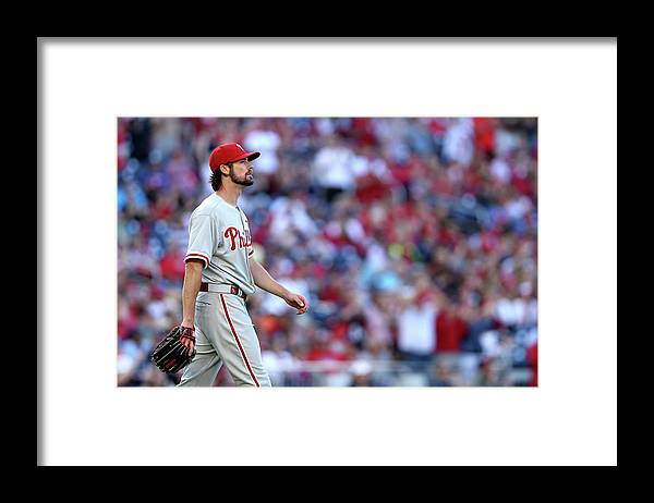 Three Quarter Length Framed Print featuring the photograph Cole Hamels by Patrick Smith