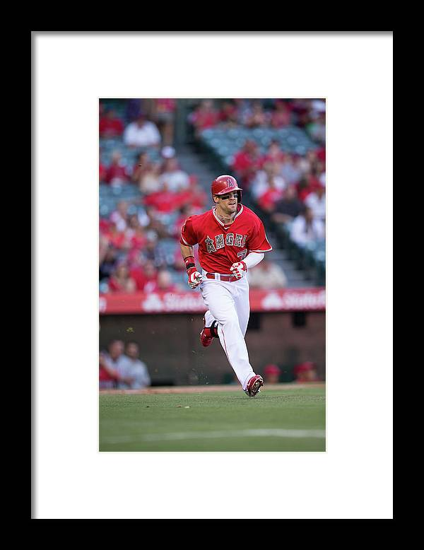 American League Baseball Framed Print featuring the photograph Collin Cowgill by Paul Spinelli