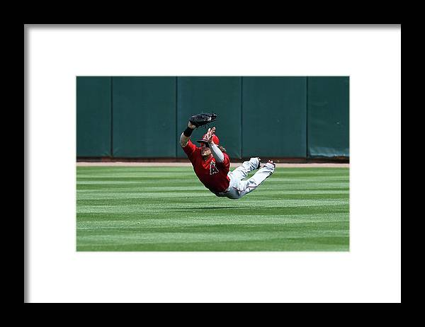 American League Baseball Framed Print featuring the photograph Collin Cowgill by Sarah Crabill