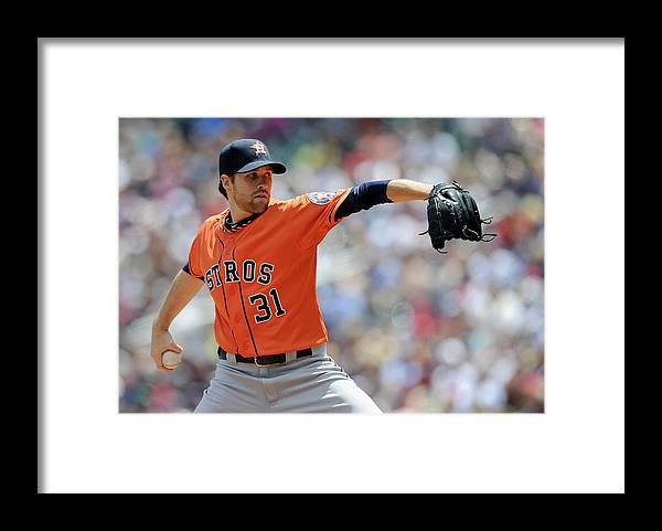 American League Baseball Framed Print featuring the photograph Collin Mchugh by Hannah Foslien