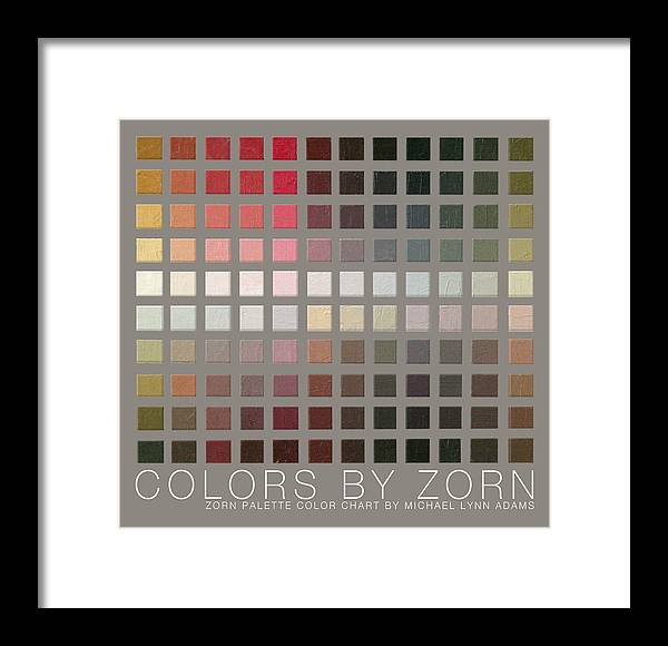 Zorn Color Palette Framed Print featuring the painting Colors By Zorn by Michael Lynn Adams