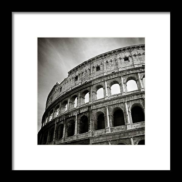 Colosseum Framed Print featuring the photograph Colosseum by Dave Bowman