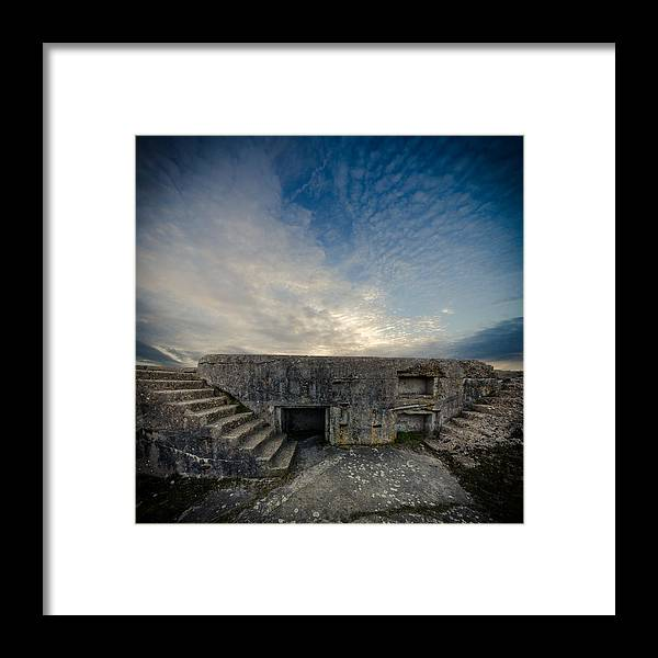 Tranquility Framed Print featuring the photograph Concrete Defence by s0ulsurfing - Jason Swain