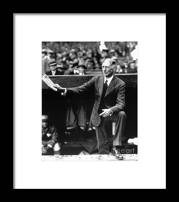 American League Baseball Framed Print featuring the photograph Connie Mack by National Baseball Hall Of Fame Library