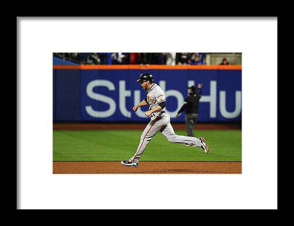 Playoffs Framed Print featuring the photograph Conor Gillaspie by Al Bello