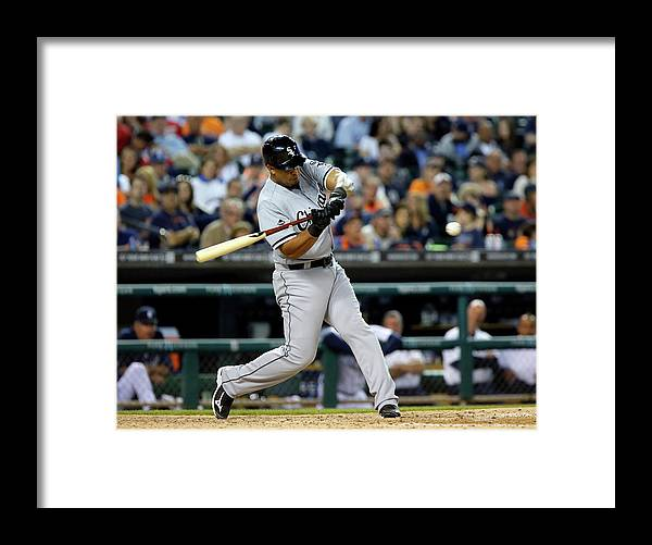 American League Baseball Framed Print featuring the photograph Conor Gillaspie by Duane Burleson
