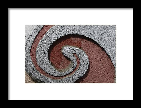 Photograph Framed Print featuring the photograph Copper Swirl by Richard Wetterauer