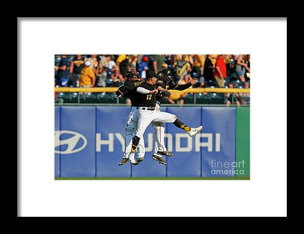 People Framed Print featuring the photograph Corey Dickerson and Starling Marte by Justin K. Aller