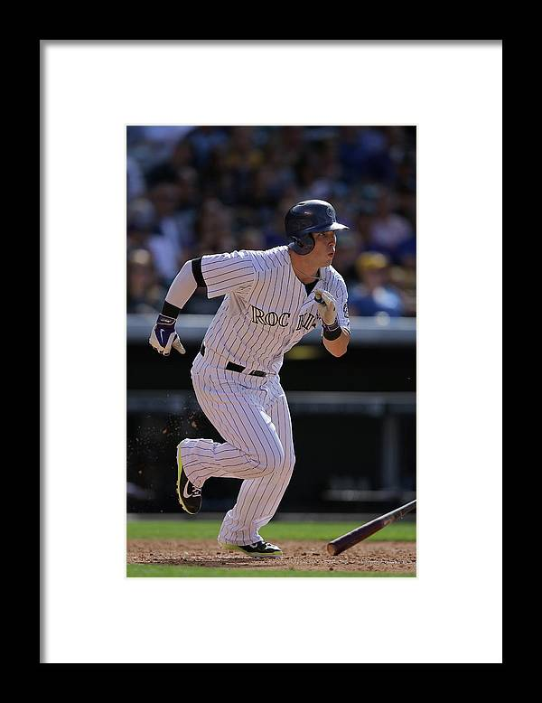 Home Base Framed Print featuring the photograph Corey Dickerson by Doug Pensinger
