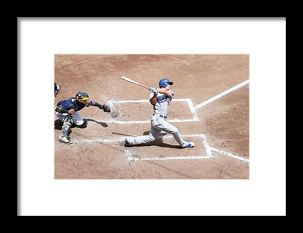 People Framed Print featuring the photograph Corey Seager by Joe Robbins