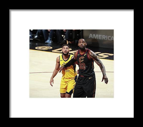 Playoffs Framed Print featuring the photograph Cory Joseph and Lebron James by Nathaniel S. Butler