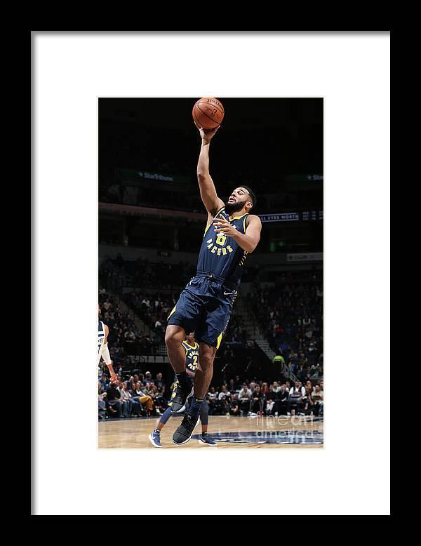 Nba Pro Basketball Framed Print featuring the photograph Cory Joseph by David Sherman