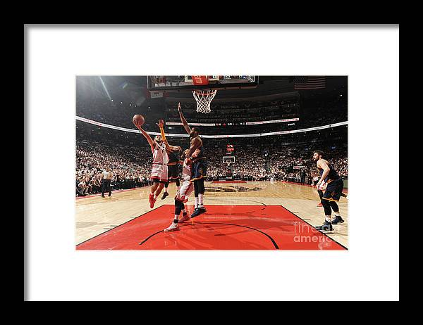 Playoffs Framed Print featuring the photograph Cory Joseph by Ron Turenne