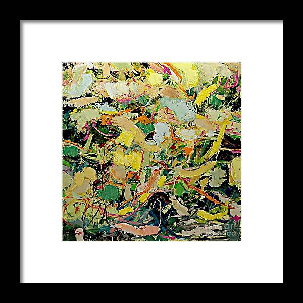 Landscape Framed Print featuring the painting Cotton Blossom by Allan P Friedlander