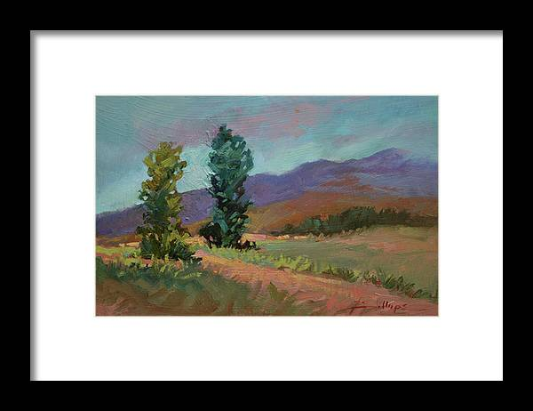 Cottonwood Paintings Framed Print featuring the painting Cottonwoods by Betty Jean Billups