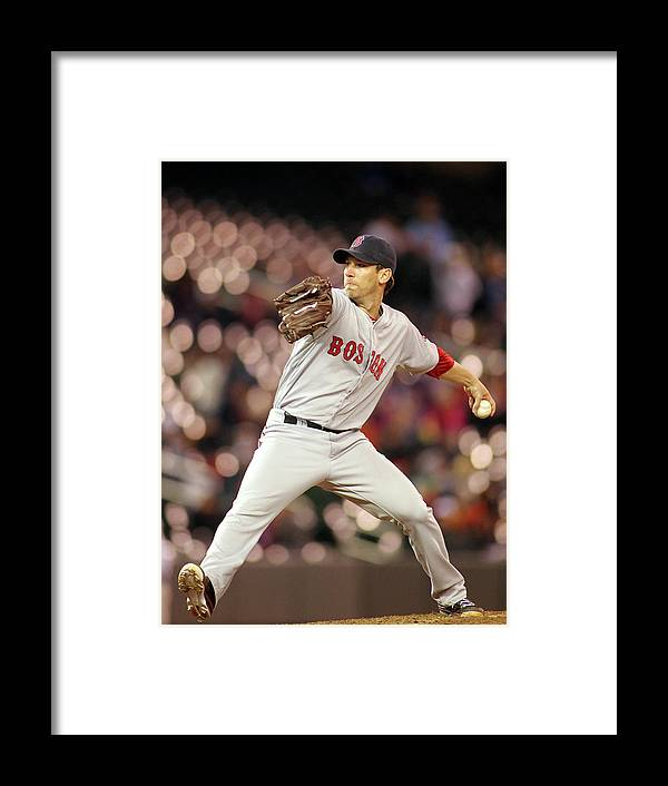 American League Baseball Framed Print featuring the photograph Craig Breslow by Andy King