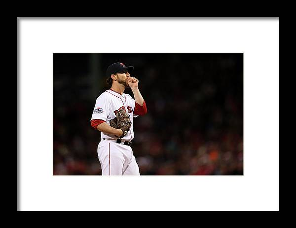 Game Two Framed Print featuring the photograph Craig Breslow by Rob Carr