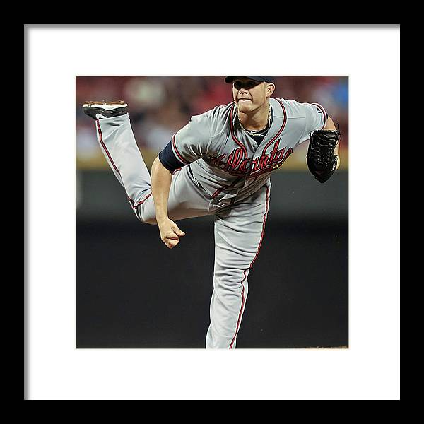 Great American Ball Park Framed Print featuring the photograph Craig Kimbrel by Jamie Sabau