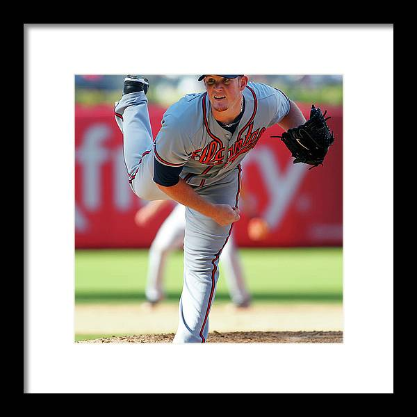 Citizens Bank Park Framed Print featuring the photograph Craig Kimbrel by Rich Schultz