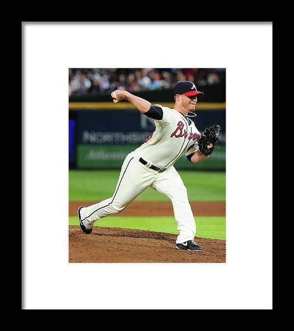 Atlanta Framed Print featuring the photograph Craig Kimbrel by Scott Cunningham
