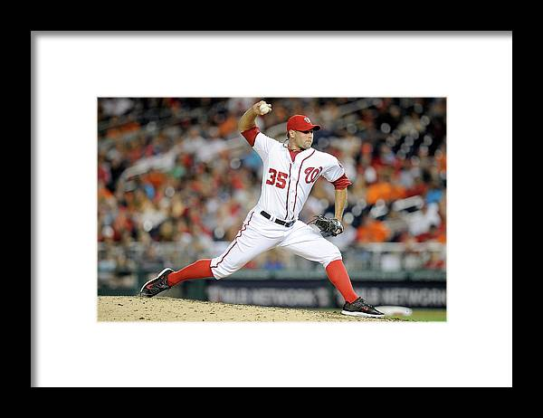 American League Baseball Framed Print featuring the photograph Craig Stammen by Greg Fiume