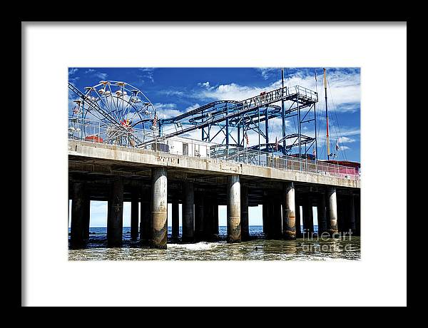 Crazy Mouse Framed Print featuring the photograph Crazy Mouse on the Steel Pier in Atlantic City by John Rizzuto