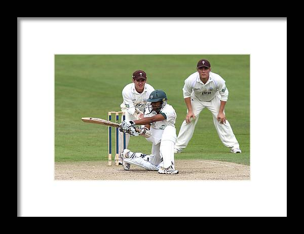 People Framed Print featuring the photograph Cricket - Liverpool Victoria County Championship - Division Two - Day Three - Worcestershire v Surrey - New Road by David Davies - PA Images