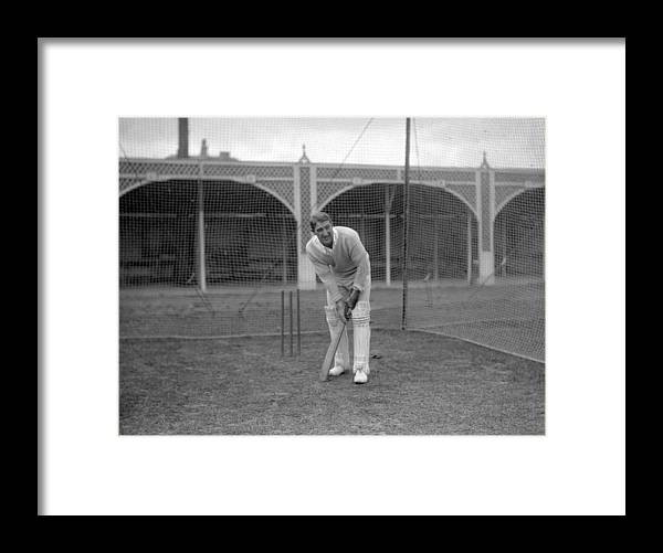 People Framed Print featuring the photograph Cricket - South Africa in British Isles - South Africa Nets - Lord's by PA Images