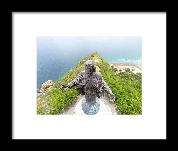 Adventure Framed Print featuring the photograph Cristo Rei of Dili statue of Jesus by Brthrjhn2099