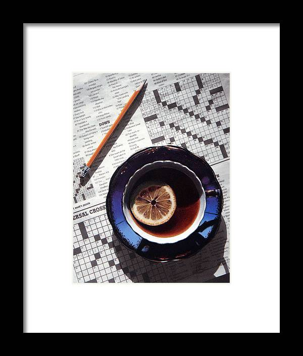 Still Life Framed Print featuring the painting Crossword by Dianna Ponting