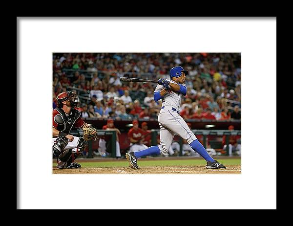 People Framed Print featuring the photograph Curtis Granderson by Christian Petersen