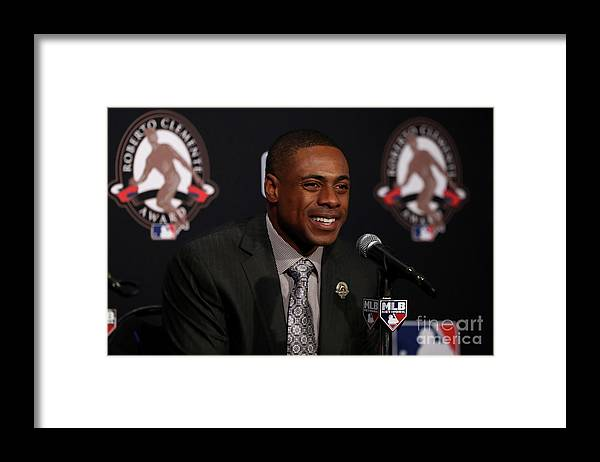People Framed Print featuring the photograph Curtis Granderson by Elsa