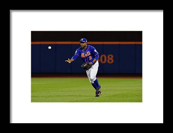 Playoffs Framed Print featuring the photograph Curtis Granderson by Lg Patterson