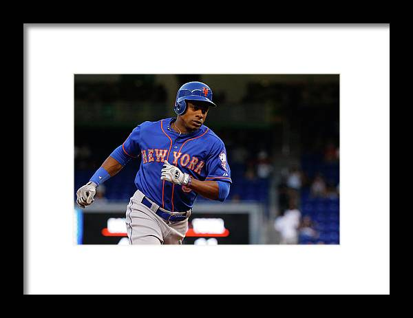 Individual Event Framed Print featuring the photograph Curtis Granderson by Rob Foldy