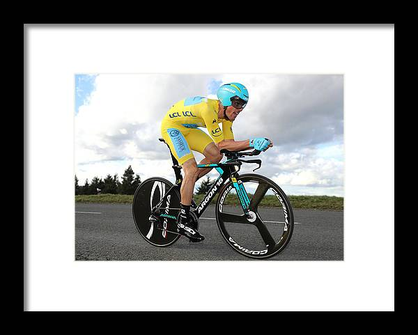 Astana Pro Team Framed Print featuring the photograph Cycling: 76th Paris - Nice 2018 / Stage 4 by Bryn Lennon
