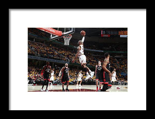 Playoffs Framed Print featuring the photograph Dahntay Jones by Nathaniel S. Butler