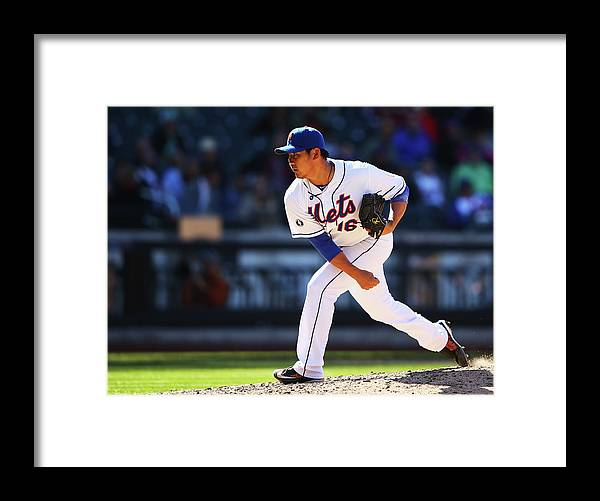Ninth Inning Framed Print featuring the photograph Daisuke Matsuzaka by Al Bello
