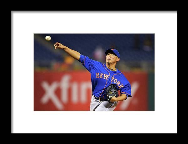 Citizens Bank Park Framed Print featuring the photograph Daisuke Matsuzaka by Drew Hallowell