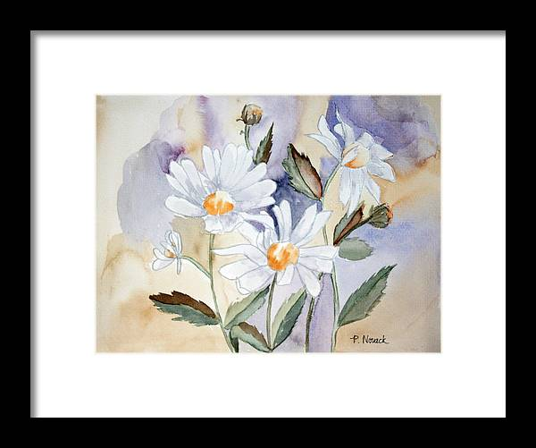 Flowers Framed Print featuring the painting Daisy Days by Patricia Novack