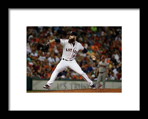 People Framed Print featuring the photograph Dallas Keuchel by Scott Halleran