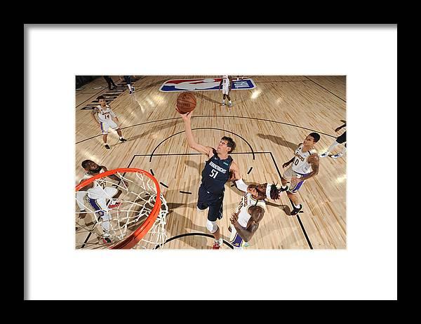 Nba Pro Basketball Framed Print featuring the photograph Dallas Mavericks v Los Angeles Lakers by Jesse D. Garrabrant